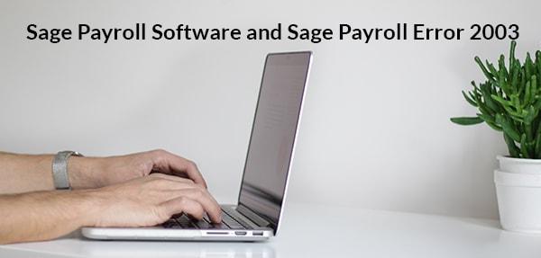 sage payroll error 2003