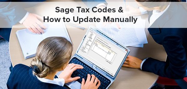 Sage Tax Codes
