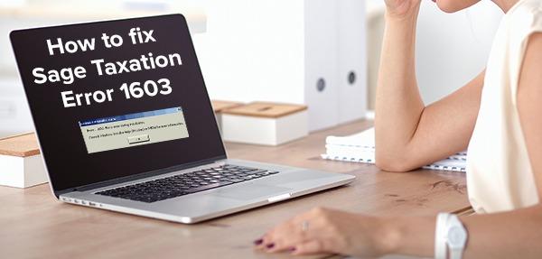 sage taxation error 1603