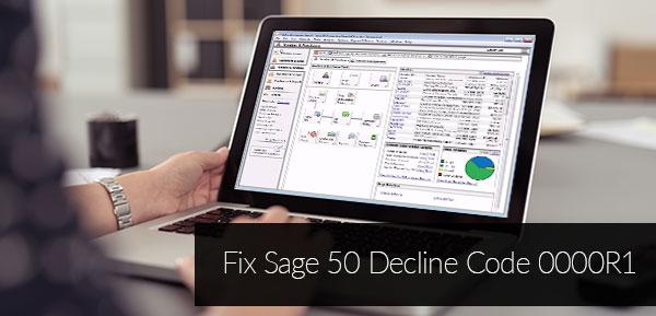 Sage 50 Decline Code 0000R1