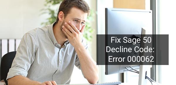 Sage 50 Decline Code Error