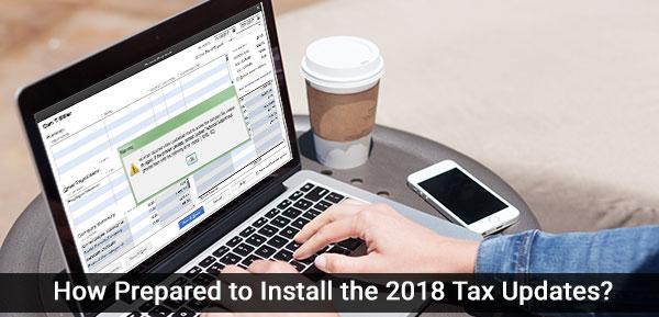 Install the 2018 Tax Updates