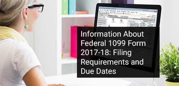 Federal 1099 Form 2017-18