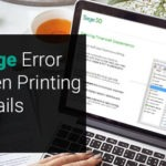 Sage Error 153 When Printing User Details Report