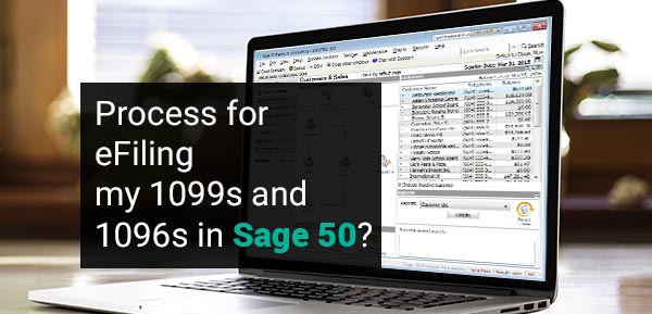 Process for eFiling my 1099s and 1096s in Sage 50