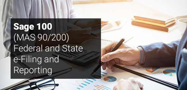 Sage 100 Federal and State e Filing and Reporting