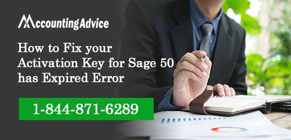 Activation Key for Sage 50 has Expired Error
