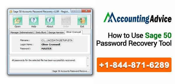 Sage 50 Password Recovery Tool
