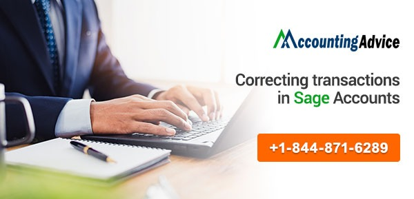 Correcting transactions Sage accounts