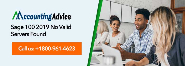 sage 100 2019 no valid servers found