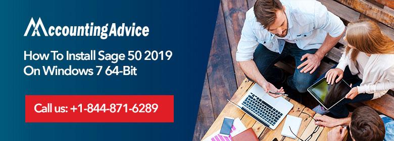 Install Sage-50 2019 Windows 7 64 Bit