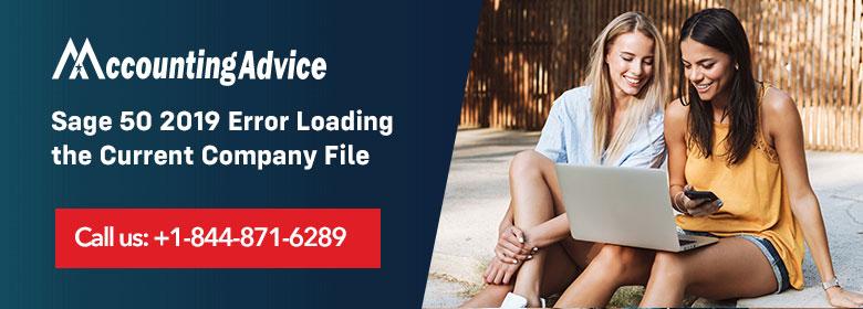 Sage 50 2019 Error Loading the Current Company File