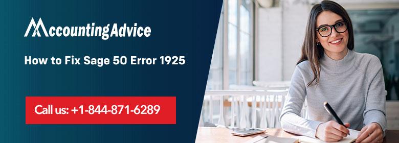 Sage 50 Error 1925
