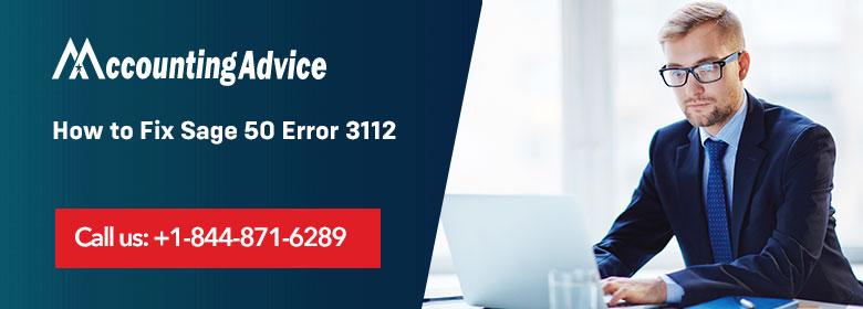 Sage 50 Error 3112