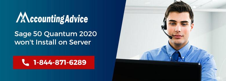 Sage 50 2020 wont Install Server 2012 R2