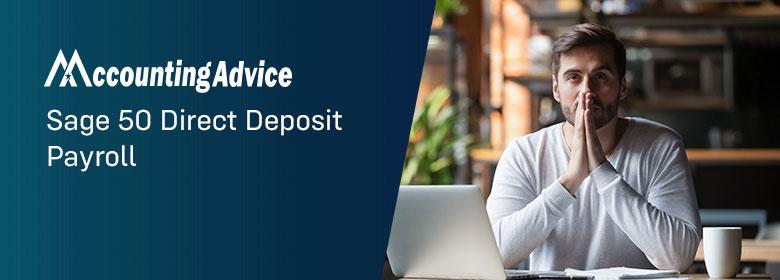 Sage 50 Direct Deposit Payroll