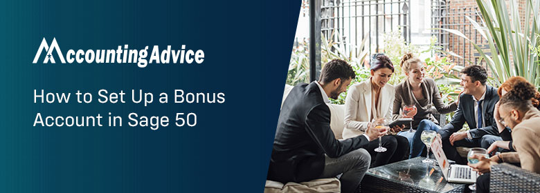 Setup Bonus Account in Sage 50