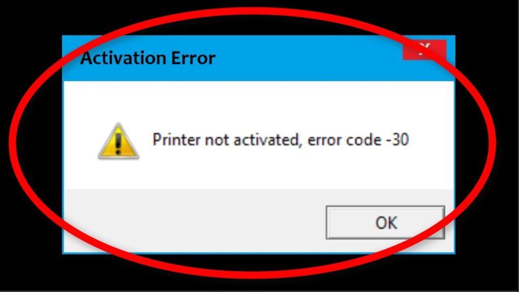 Sage Error Code 30