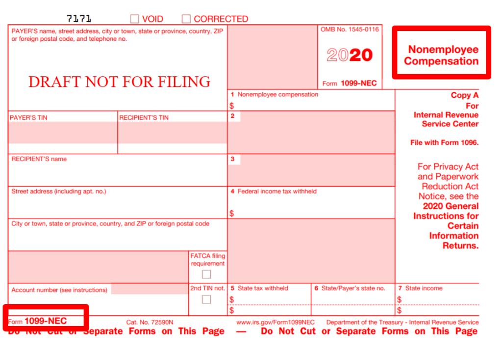 2020 Form 1099 NEC