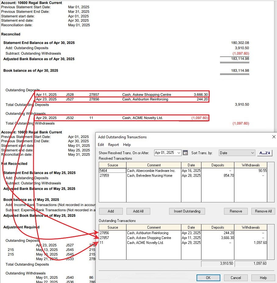 reset the bank reconciliation in Sage 1