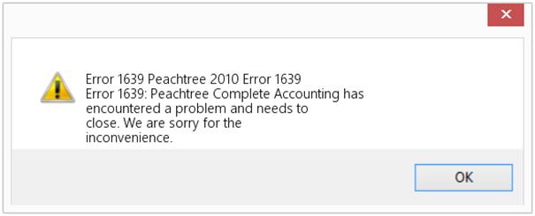 Error 1639