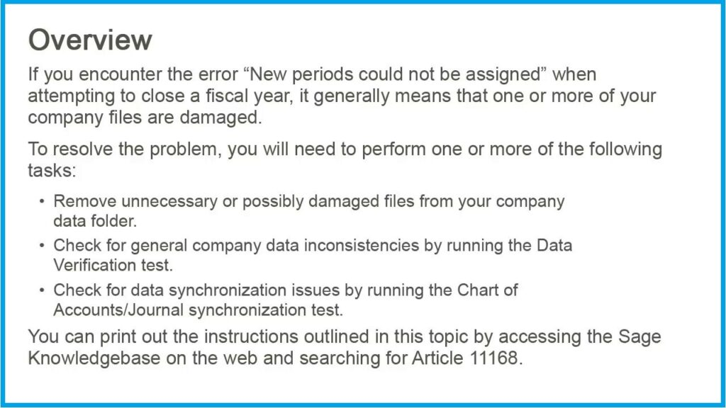 New Periods Could not be Assigned 1