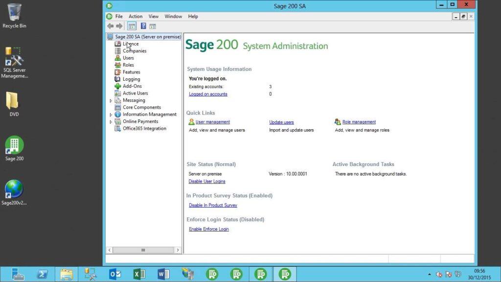 Sage 200 license keys