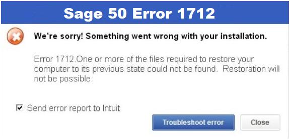 Sage 50 Error 1712