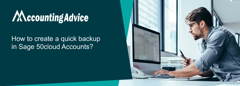 create quick backup in Sage 50cloud