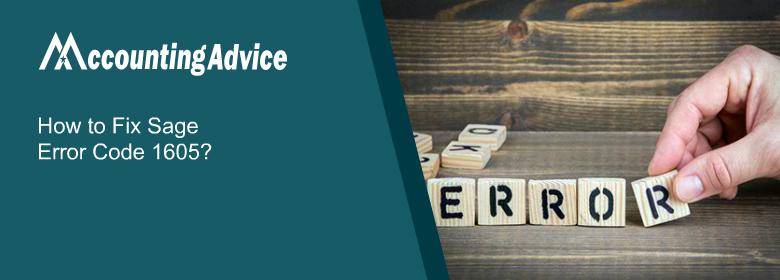 Sage 50 Error Code 1605