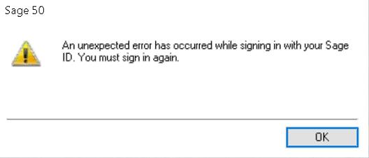 unexpected error has ocurred