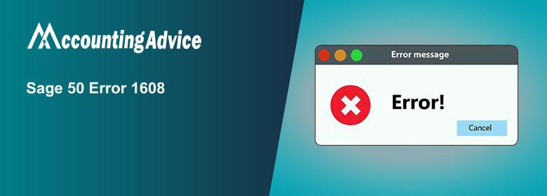 Sage 50 Error 1608 - Installation Error