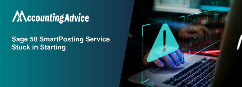 Sage 50 SmartPosting Service not starting or stuck in starting
